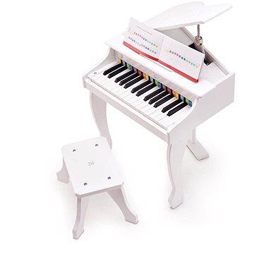 Hape Deluxe piano, bílé (6943478019485)