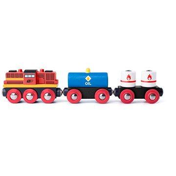Woody Diesel lokomotiva s nákladním vlakem (8591864918980)