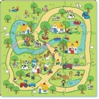 Puzzle - koberec farma 9 ks (8590756906005)