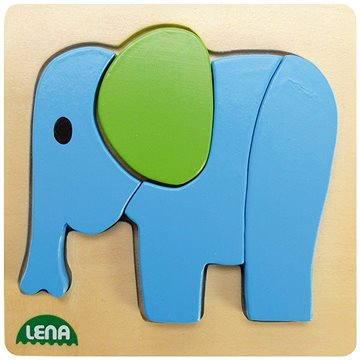 Lena Drevené puzzle – slon(32061)