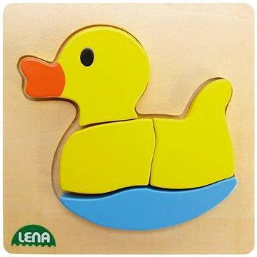 Lena Dřevěné puzzle - kačenka (4006942723201)