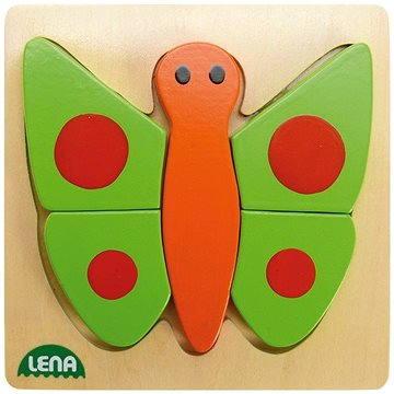 Lena Dřevěné puzzle - motýl(32067)