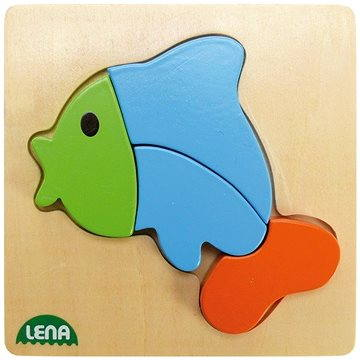 Lena Drevené puzzle – ryba(32068)