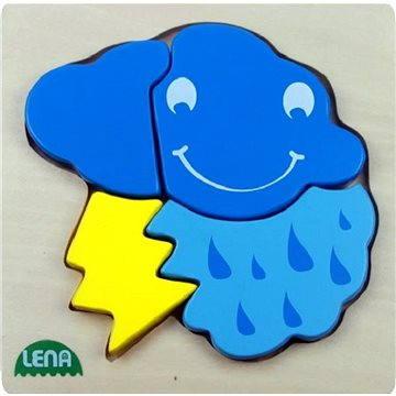 Lena Drevené puzzle - búrka(32134)