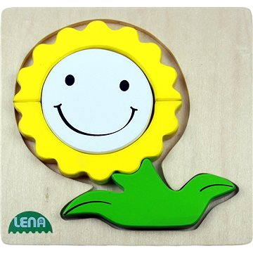Lena Drevené puzzle - kvetina(32137)