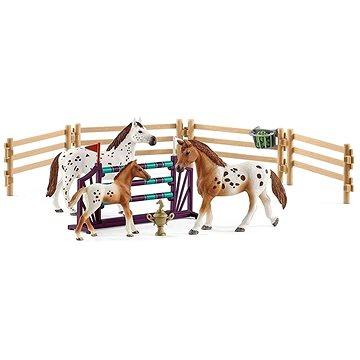 Schleich 42433 Set appalosští koně a tréninkové příslušenstí (4055744021831)