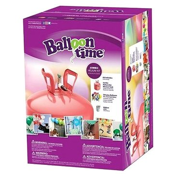 Helium Balloon Time 50 dětský set - nálepky Veselé obličeje, balónky a stuha (0631495250757)
