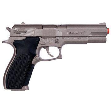 Policejní pistole stříbrná matná kovová 8 ran (8410982304508)