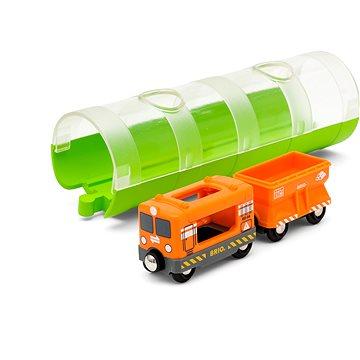 Brio World 33891 Tunel a nákladní vlak (7312350338911)