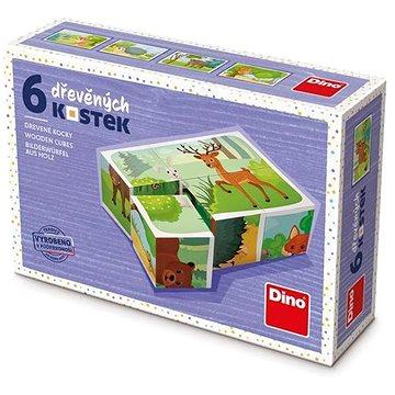 Dino Lesní zvířátka 6 kostek (8590951381102)