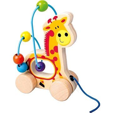 Tahací žirafa, dřevěný labyrint (4019359842106)