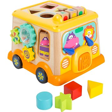 Small Foot Motorická kostka školní autobus (4020972112521)