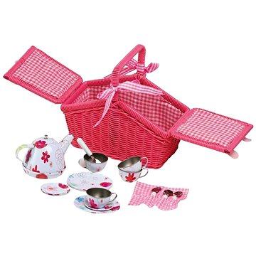 Small Foot Piknikový růžový koš s nádobíčkem (4020972099808)