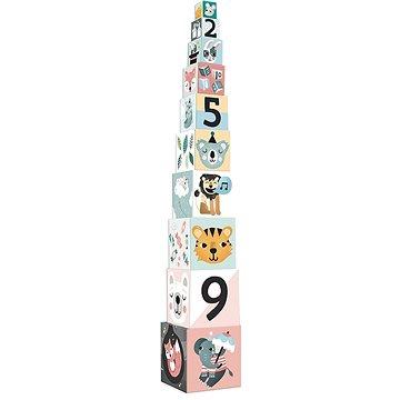 Vilac Skládací kostky zvířátka s čísly (3048700085016)