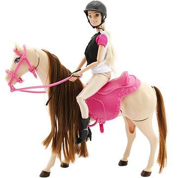 Kůň hýbající se + panenka žokejka (8592190132354)