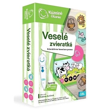 Kúzelné Čitanie - Hra Pexeso - Veselé Zvieratká SK (8590228038647)