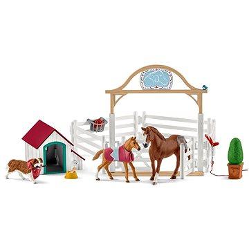 Schleich 42458 Hostující koně, Hannah s fenkou Ruby (4055744014598)
