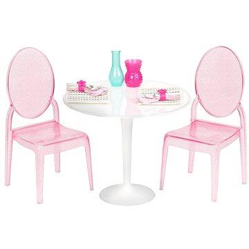 Our Generation Stolík pre dvoch - luxusné transparentné stolík so stoličkami (062243306820)