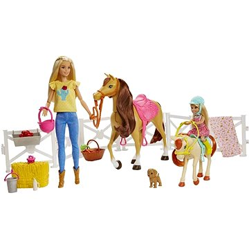 Barbie Herní set s koníky (0887961691368)