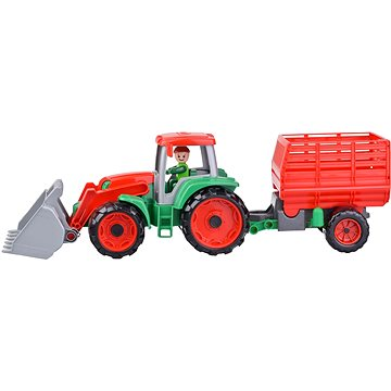 Truxx Traktor s přívěsem na seno, ozdobný kartón (4006942872602)