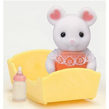 Sylvanian Families Baby Marshmallow myška s příslušenstvím (5054131053362)