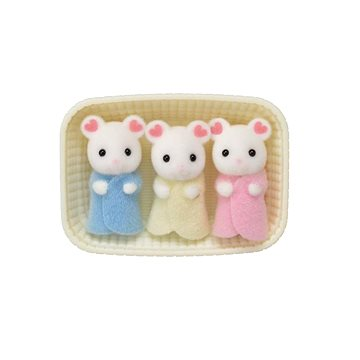 Sylvanian Families Baby Marshmallow myšky trojčata (5054131053379)
