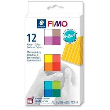 Fimo soft sada 12 barev Brilliant (4007817053416)