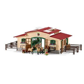 Schleich 42195 Stáj s koňmi a příslušenstvím (4055744005701)