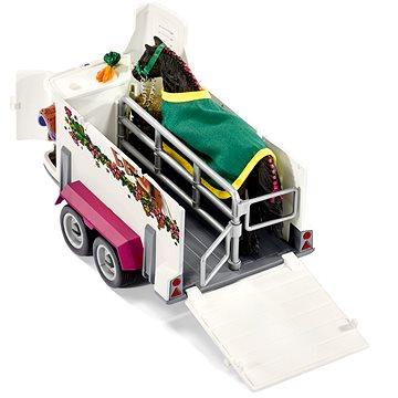 Schleich 42346 Pick–up s přívěsem a koněm (4055744005626)