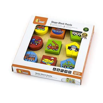 Dřevěné puzzle vkládačka - doprava (6934510595869)