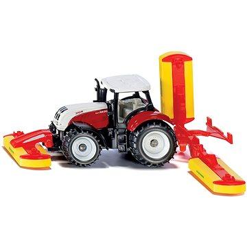 Siku Blister – Traktor Steyr se sekacími nástavci (4006874016723)