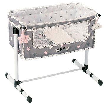 DeCuevas Toys Novorozenecká postýlka pro panenky s doplňky SKY (4897022512248)