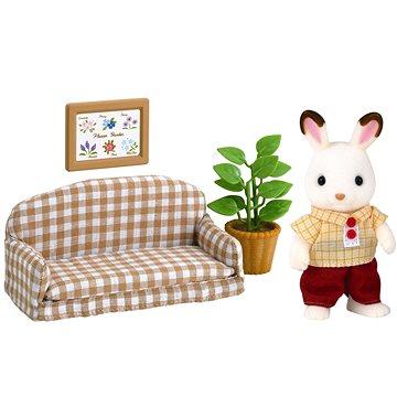 Sylvanian Families Nábytek chocolate králíků – taťka na pohovce (5054131050132)