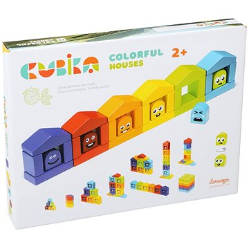 Cubika 14866 Barevné domečky (4823056514866)