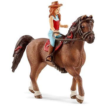 Schleich 42514 Zrzka Hannah a kůň Cayenne (4055744036132)