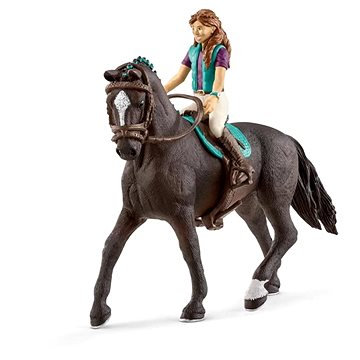 Schleich 42516 Hnědovláska Lisa a kůň Storm (4055744036156)