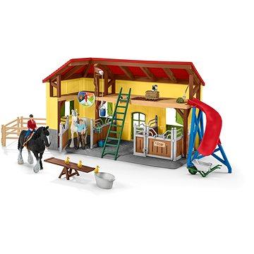 Schleich Stáj pro koně s příslušenstvím (4055744029912)