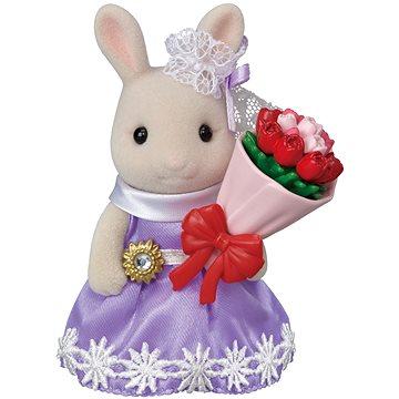 Sylvanian Families Město - králík s květinovými dary (5054131053690)