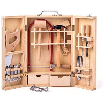Woody Kovové nářadí v dřevěném boxu - velké (8591864919314)