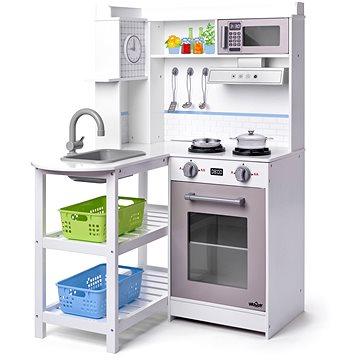 Woody Rohová kuchyňka s plastovými koši, bílá (8591864902569)