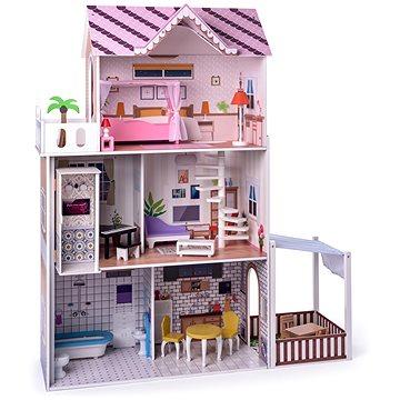 Woody Růžový domeček s výtahem Malibu (8591864913312)