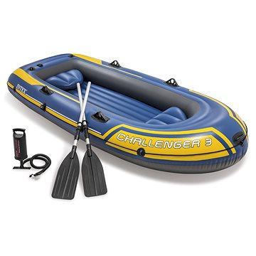 Intex Člun pro 3 osoby + vesla a pumpa (6941057463704)