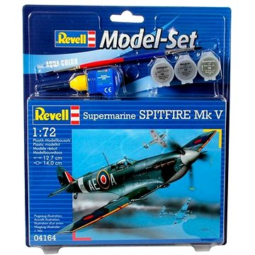 Revell Model Set 64164 letadlo – Spitfire Mk.V (4009803641645)