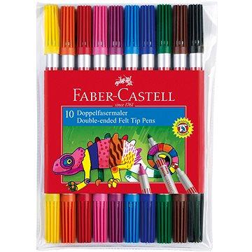 Faber-Castell Oboustranné Popisovače, 10 Barev (4005401511106)