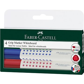 Faber-Castell Grip Marker Whiteboard, 4 ks (4005401586043)