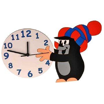 Dodo Dětské dřevěné hodiny Krtek a sněhová koule (8594155462186)