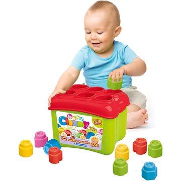 Clementoni Clemmy baby Prostrkovací kyblík s 18 kostkami (8005125148844)