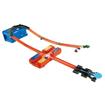 Hot Wheels Track Builder V kufříku - Zatáčka (ASRT0887961560633)