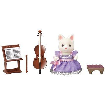 Sylvanian Families Město - cellistka hedvábná kočka (5054131060100)