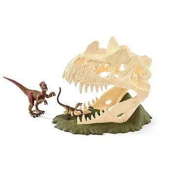 Schleich 42348 Velká lebka s Velociraptorem a ještěrem (4055744013720)